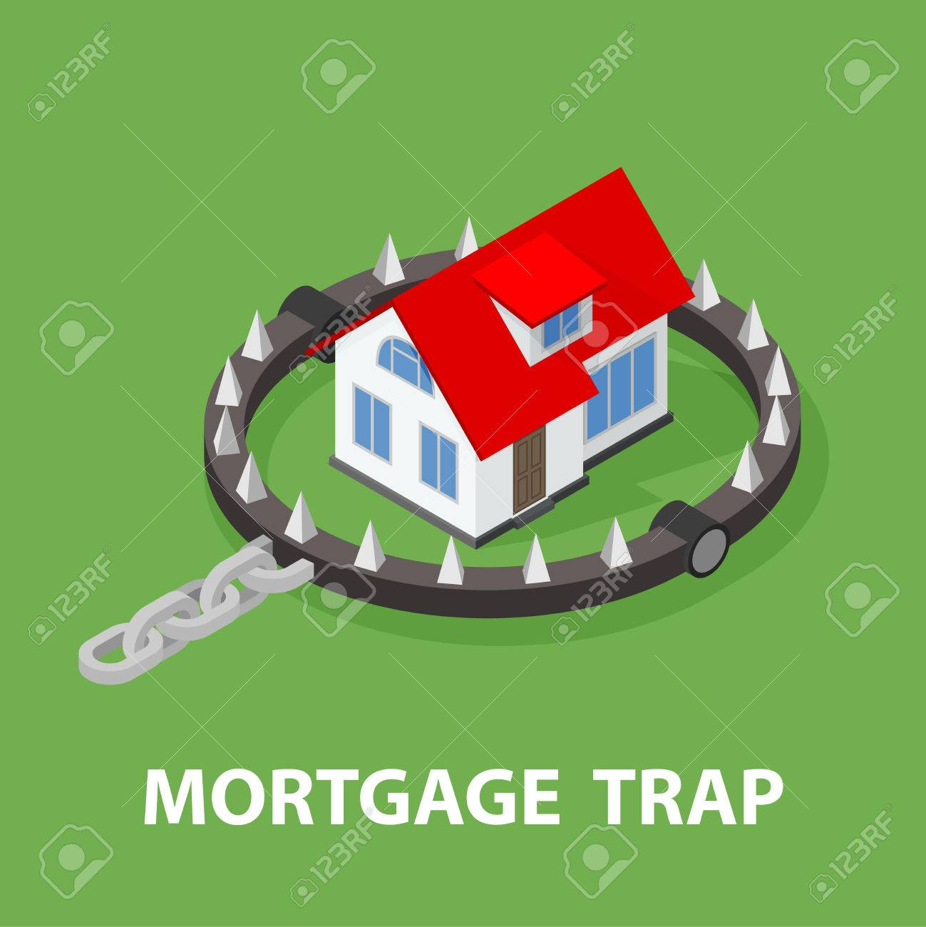 Isometric mortgage house in bear trap royalty free cliparts imagens isometric mortgage house in bear trap ccuart Images