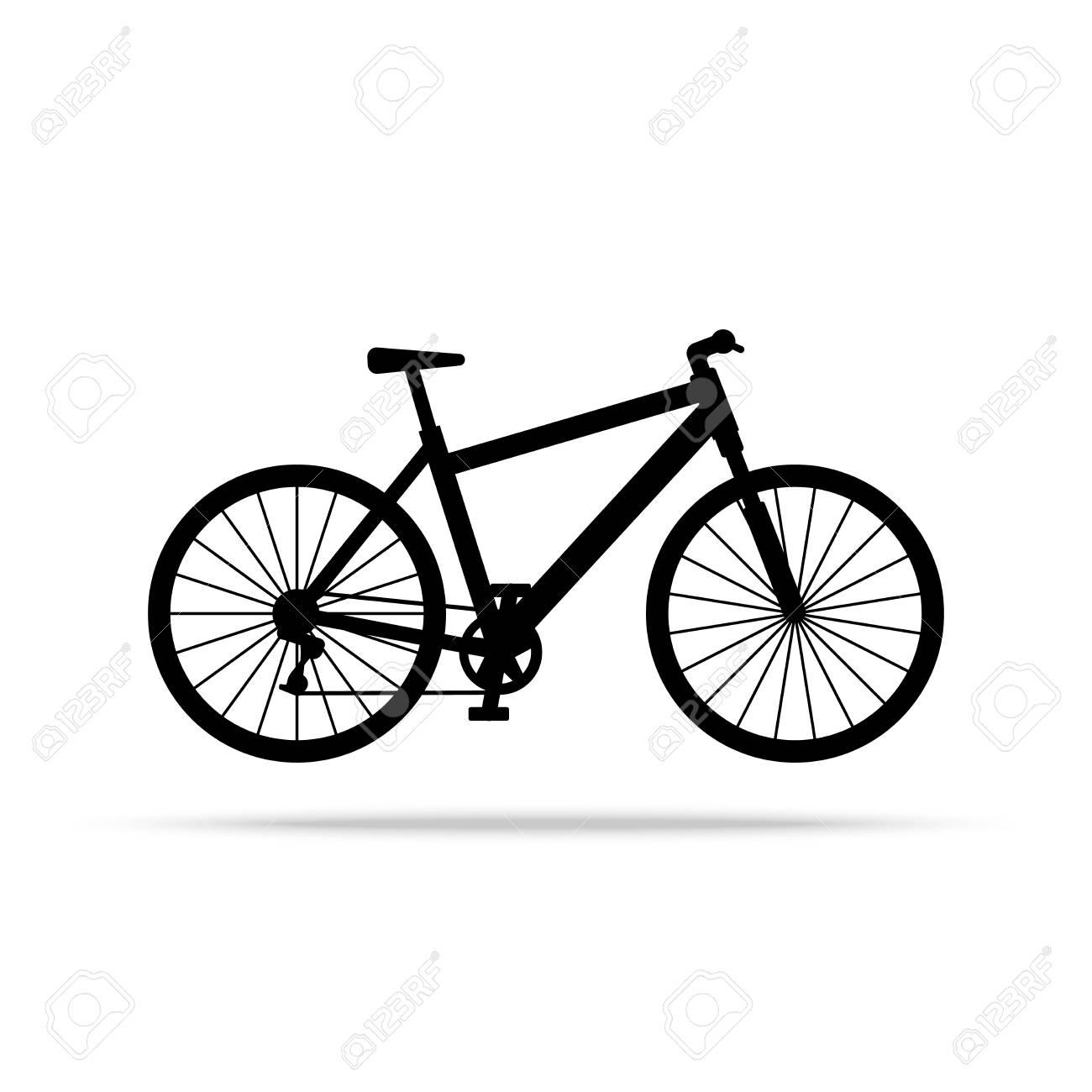 Icona Della Bicicletta Vettore Della Bici Isolato Su Priorità Bassa Bianca Illustrazione Vettoriale Piatta In Nero Eps 10