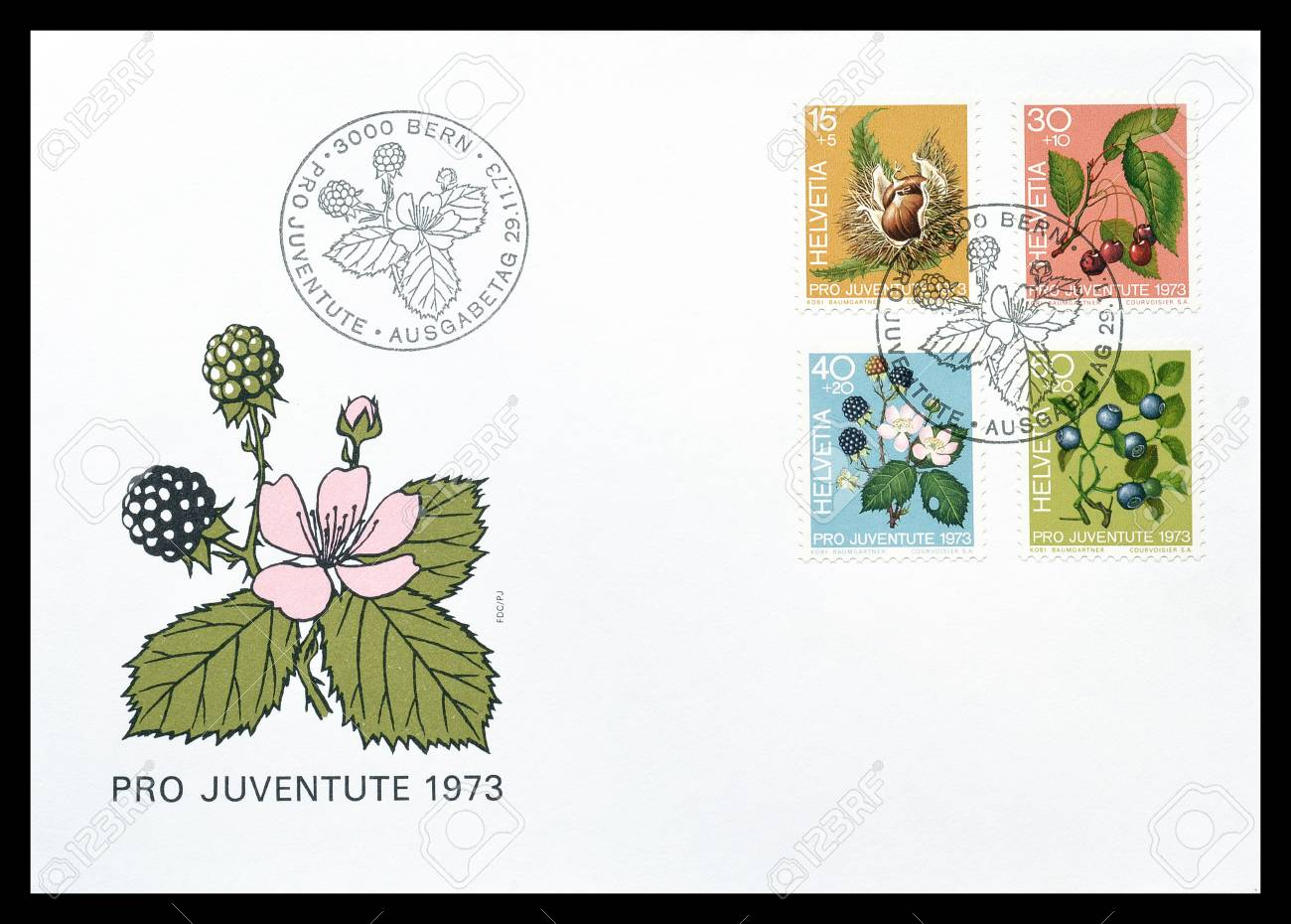 First day cover letter printed by switzerland that shows fruits first day cover letter printed by switzerland that shows fruits of the forest circa thecheapjerseys Image collections