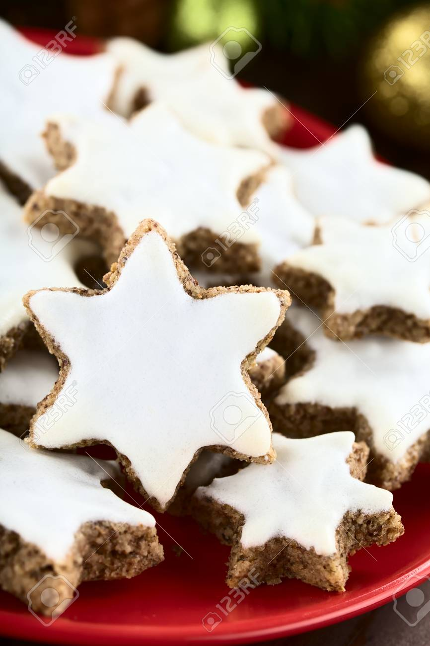 Traditional German Zimtsterne Cinnamon Stars Christmas Cookies