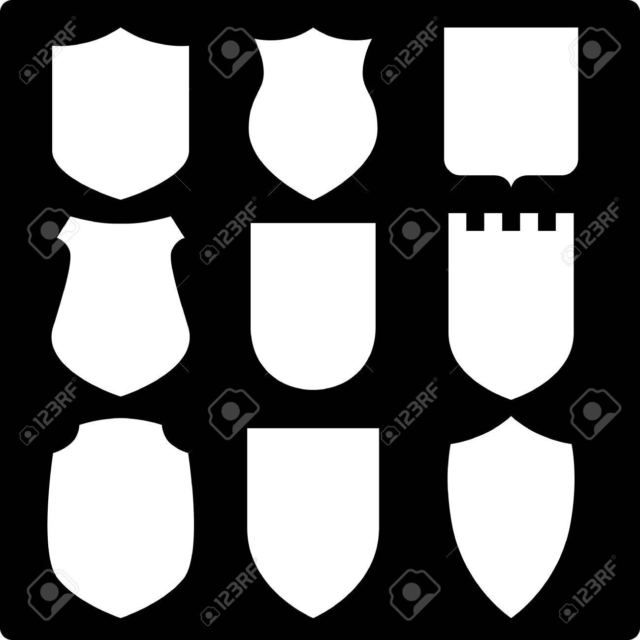 Set of various shields. Vector Illustration. Stock Vector - 4421321