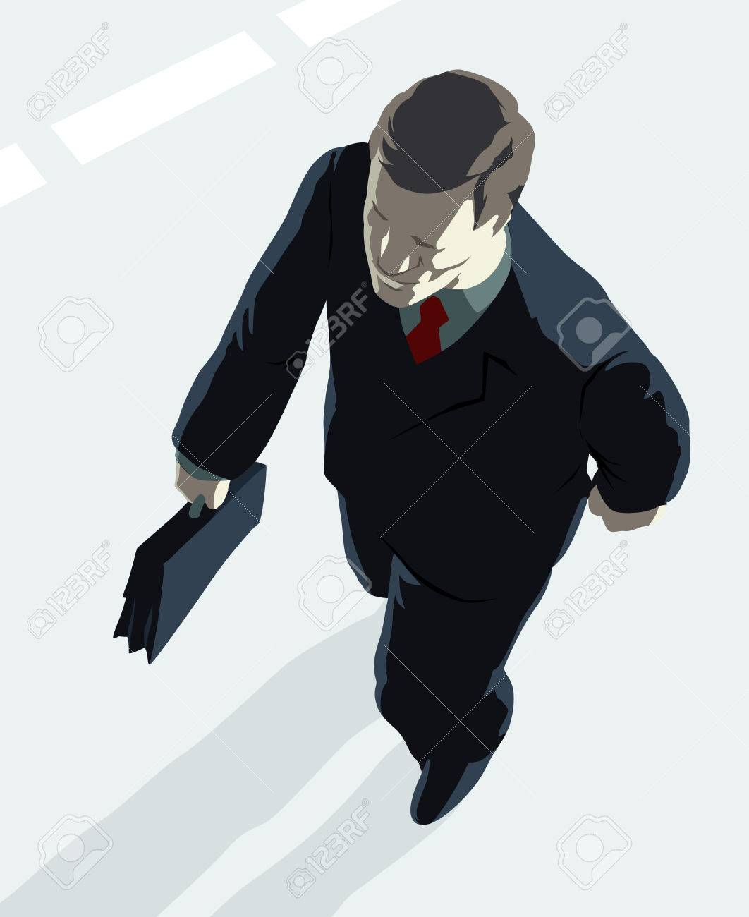 Top manager with briefcase. Vector illustration. Stock Vector - 5227243