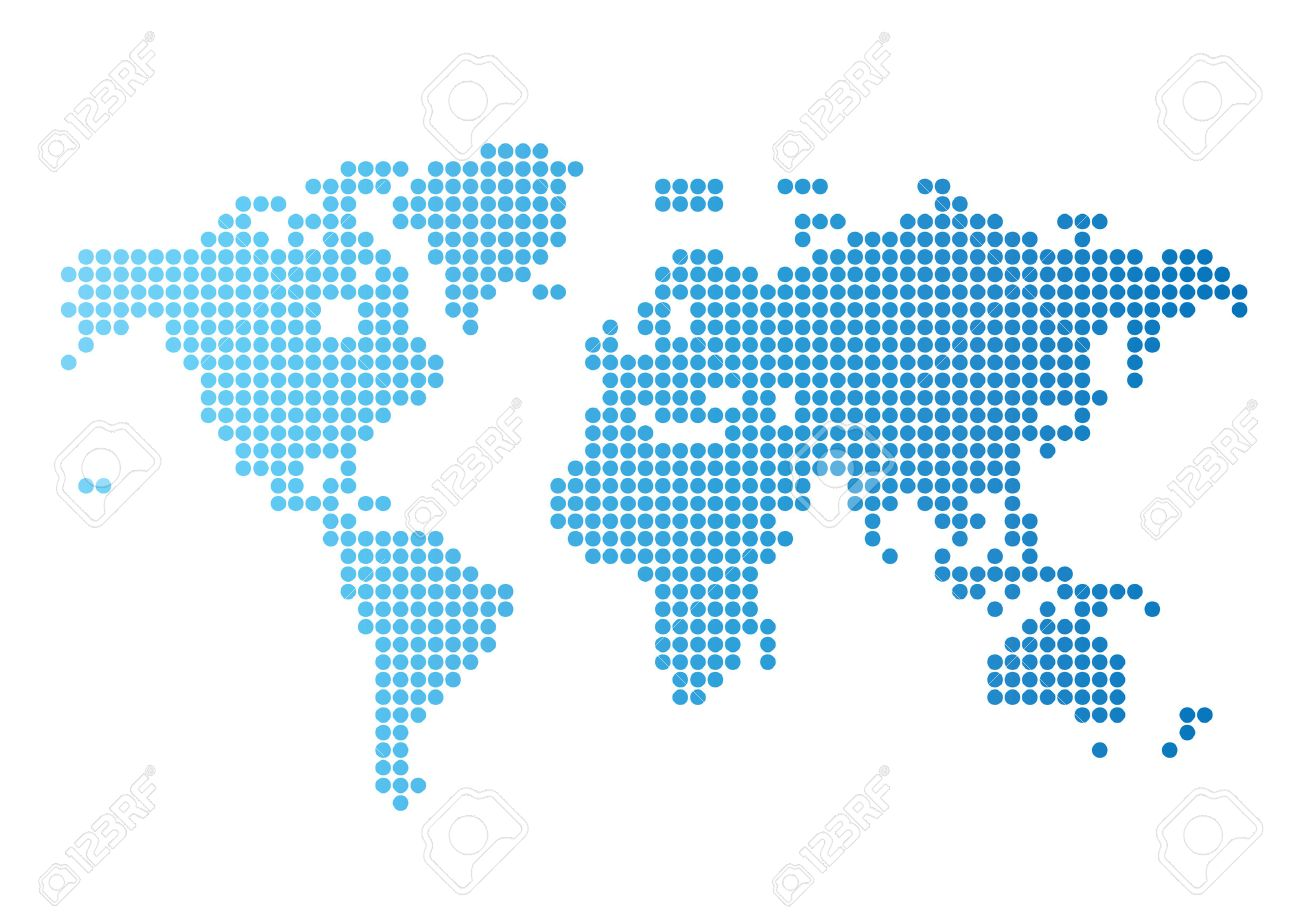 Abstract computer graphic world map of blue round dots illustration abstract computer graphic world map of blue round dots illustration stock vector 7023275 gumiabroncs Images