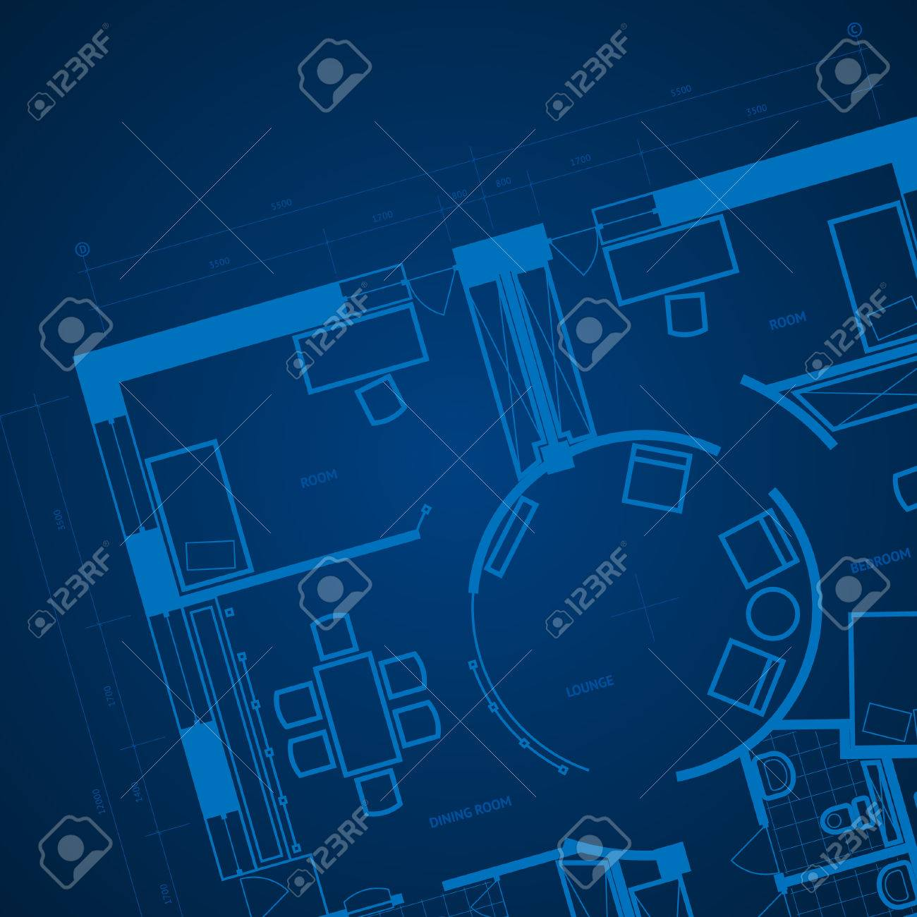 Abstract blueprint background in blue colors illustration royalty abstract blueprint background in blue colors illustration stock vector 7023411 malvernweather Choice Image