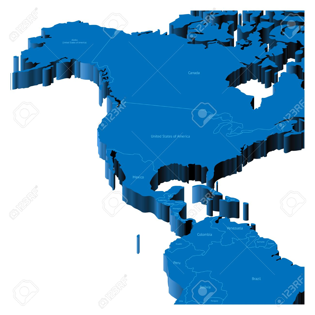 Map Of United States Alaska Central America With National - Map of united states with alaska