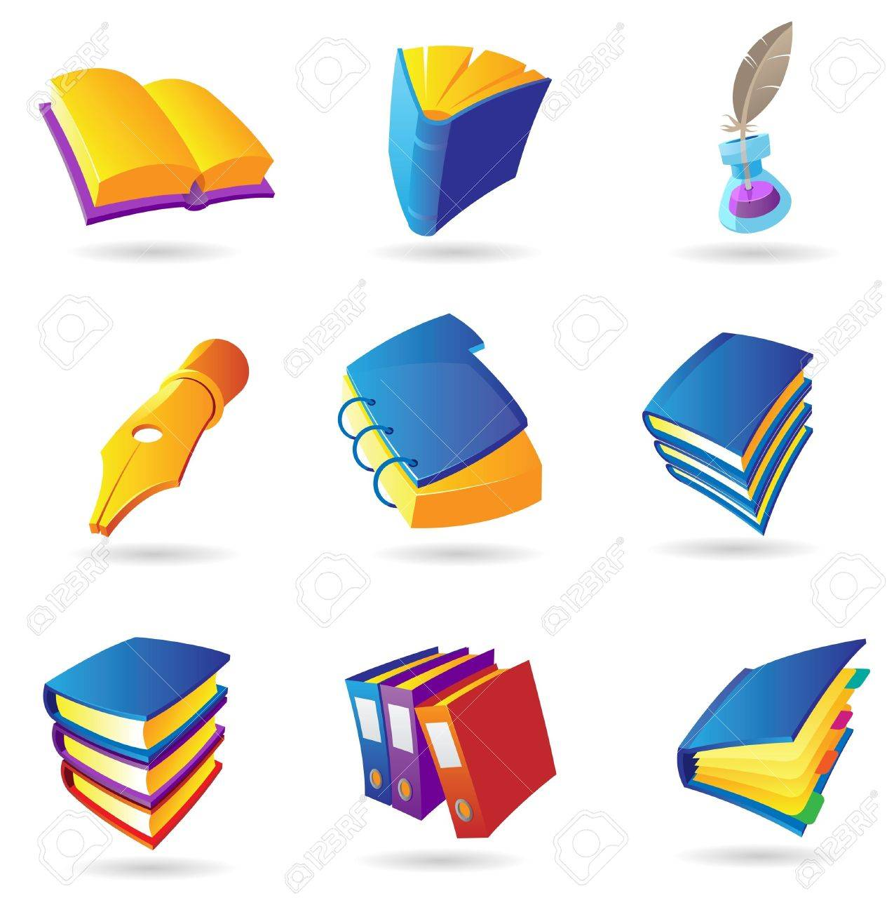 icons for books and literature vector illustration royalty icons for books and literature vector illustration stock vector 10893007