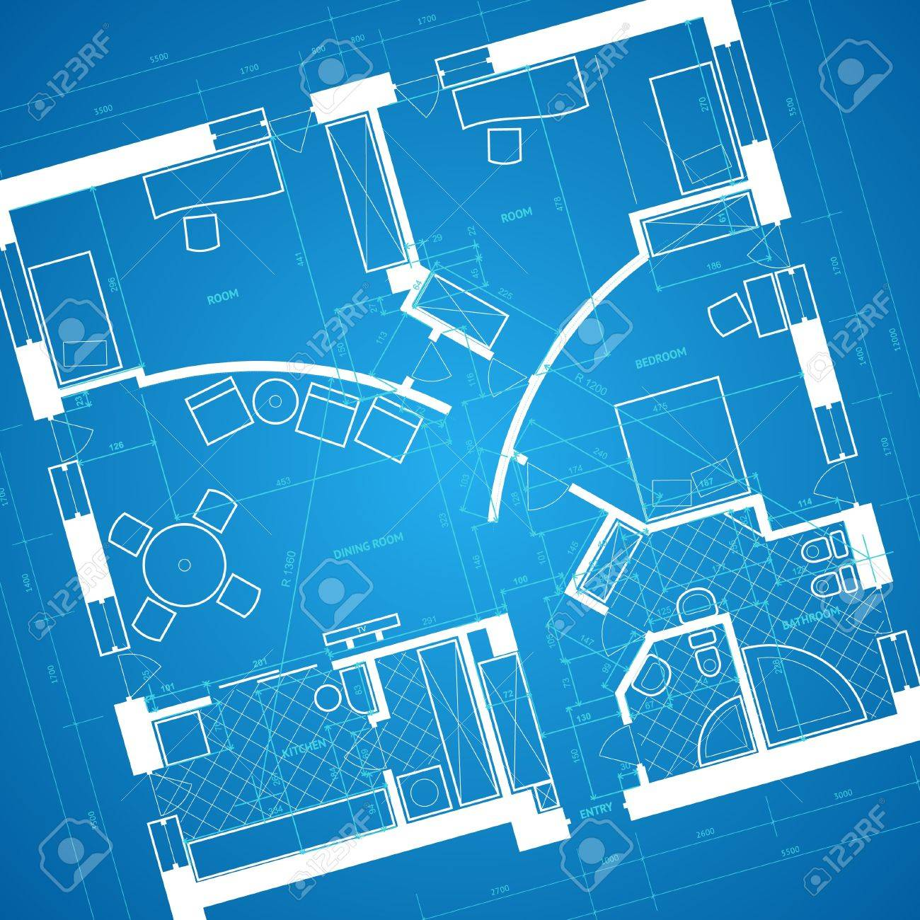 Abstract blueprint background in blue and white colors vector abstract blueprint background in blue and white colors vector illustration stock vector 11175194 malvernweather Choice Image
