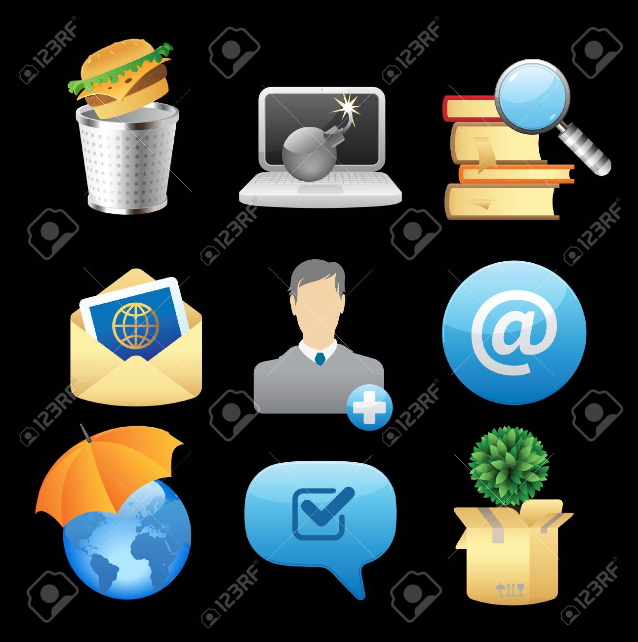 Icons for concepts and metaphor. Vector illustration. Stock Vector - 12885922
