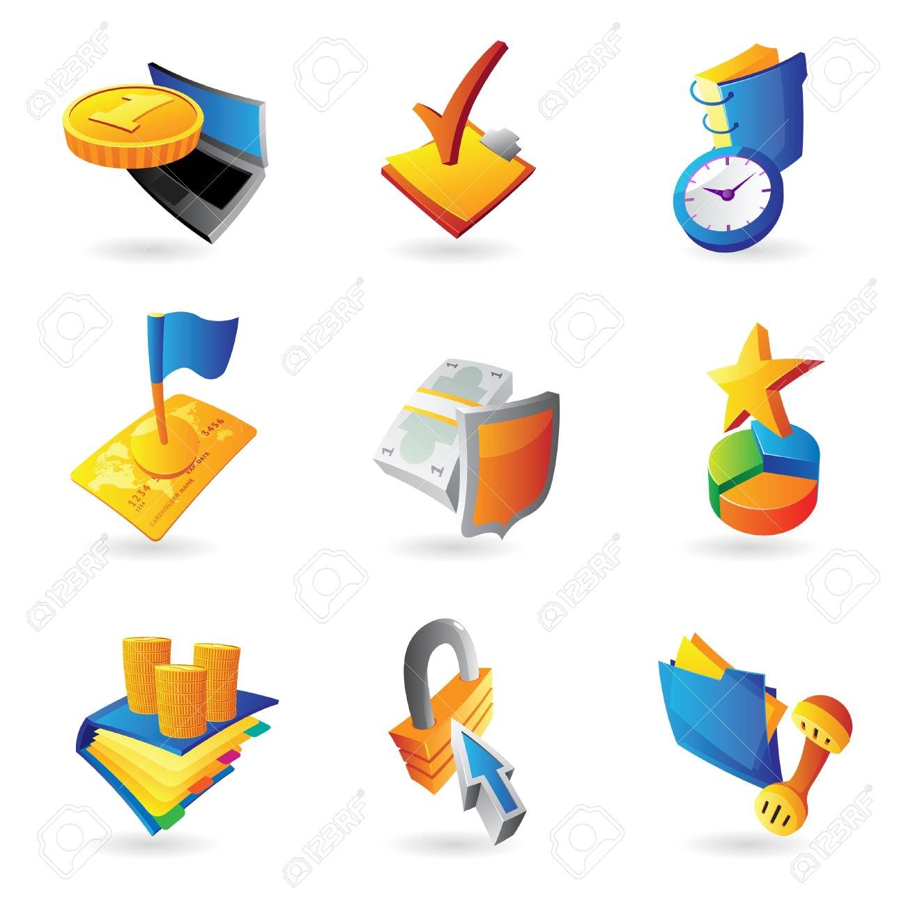 Icons for business and finance. Stock Vector - 13094361