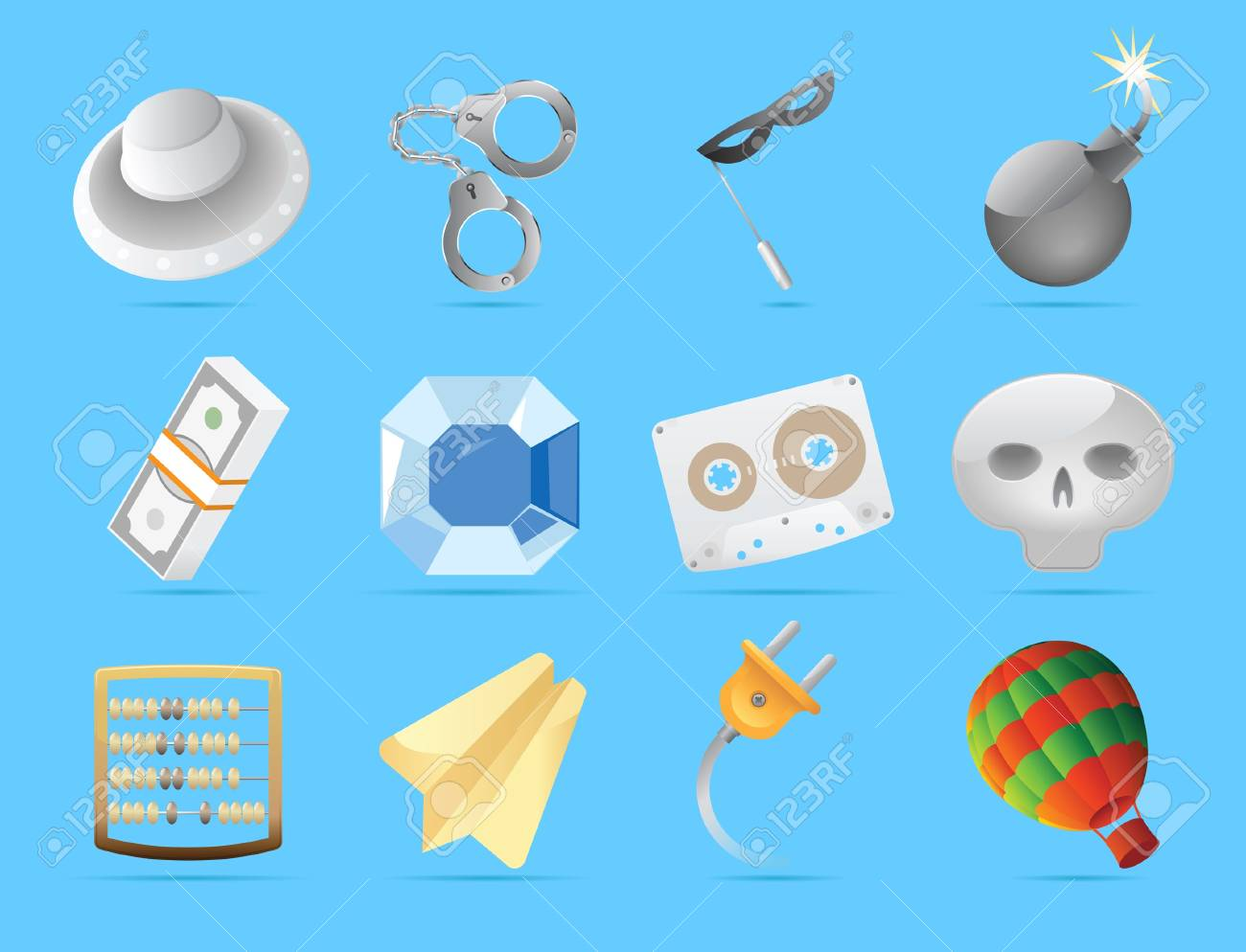Miscellaneous icons. Stock Vector - 13094363