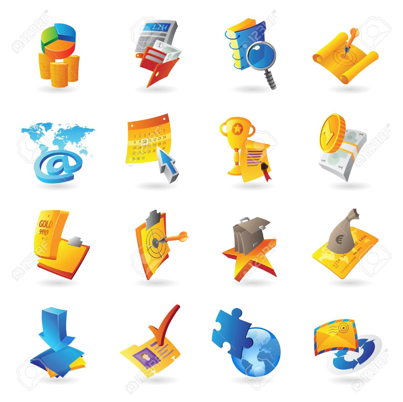 Icons for business and finance - 15082142