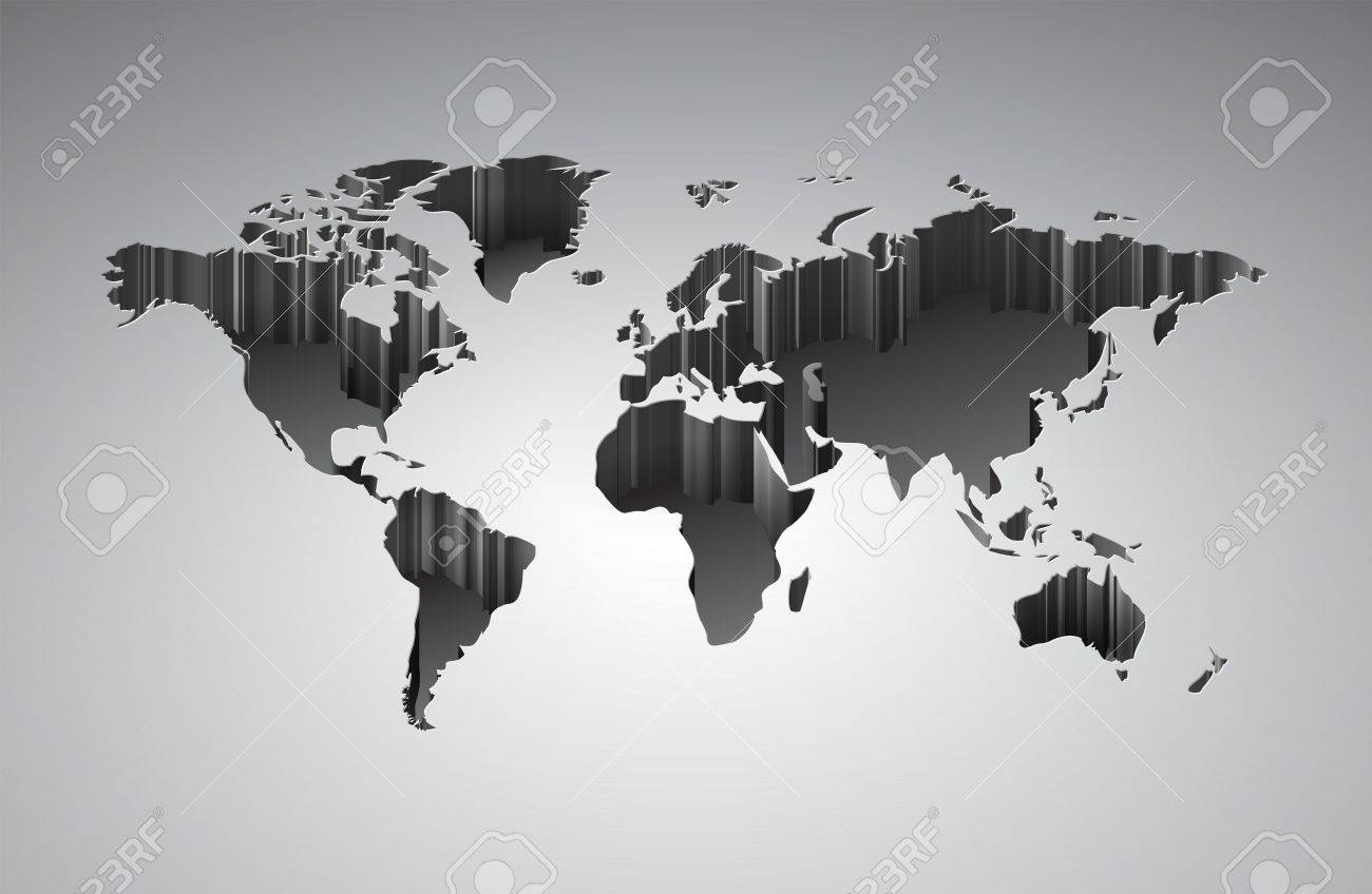 World Map With Deffect Vector Saved As