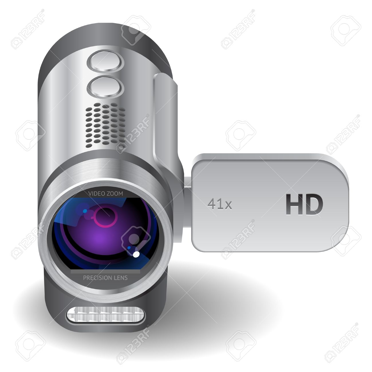 Icon for camcorder. White background.  file contains objects with transparency. Stock Vector - 15658617