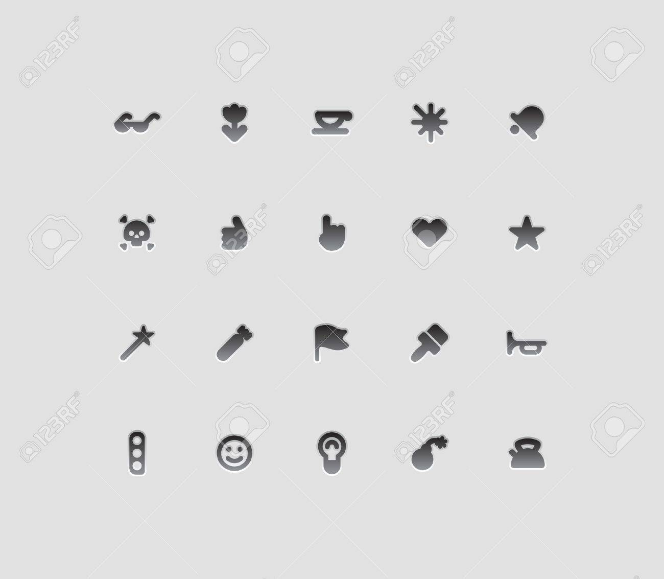 Miscellaneous interface icons  Vector illustration Stock Vector - 15858467