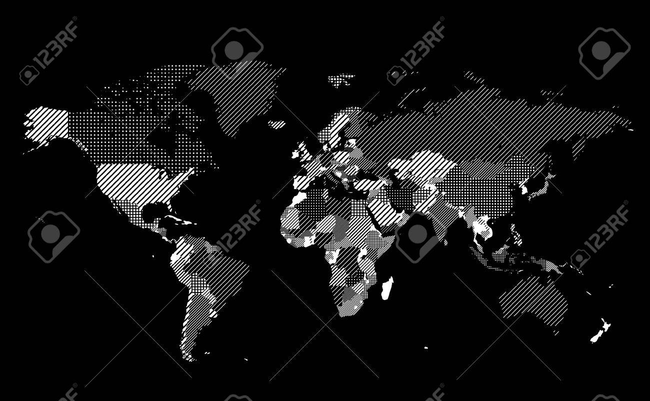 World map with textured countries on black background illustration world map with textured countries on black background illustration stock vector 18422256 gumiabroncs Images