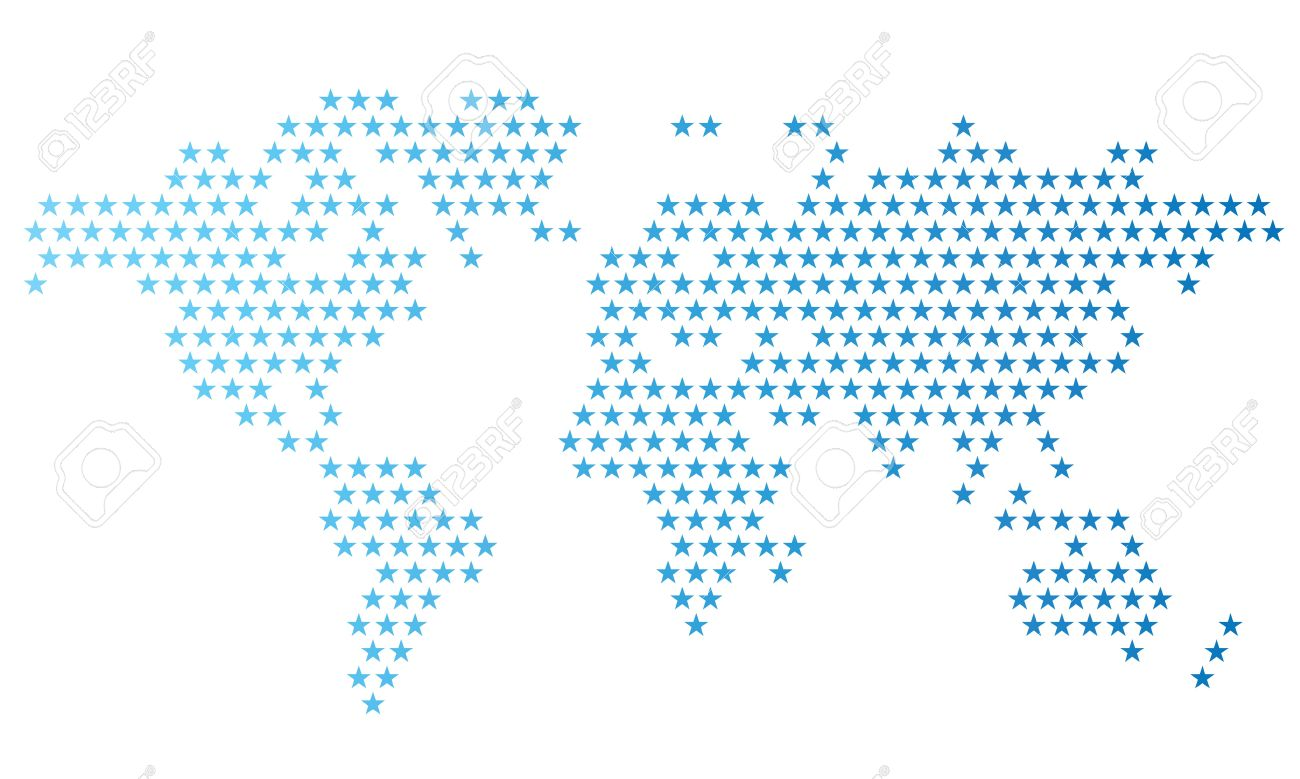 Dotted world map made of star shapes vector illustration royalty dotted world map made of star shapes vector illustration stock vector 19022069 gumiabroncs Images