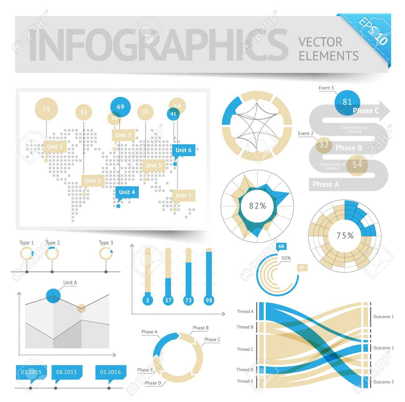 Infographic design elements Vector saved as EPS-10, file contains objects with transparency shadows etc - 19601837