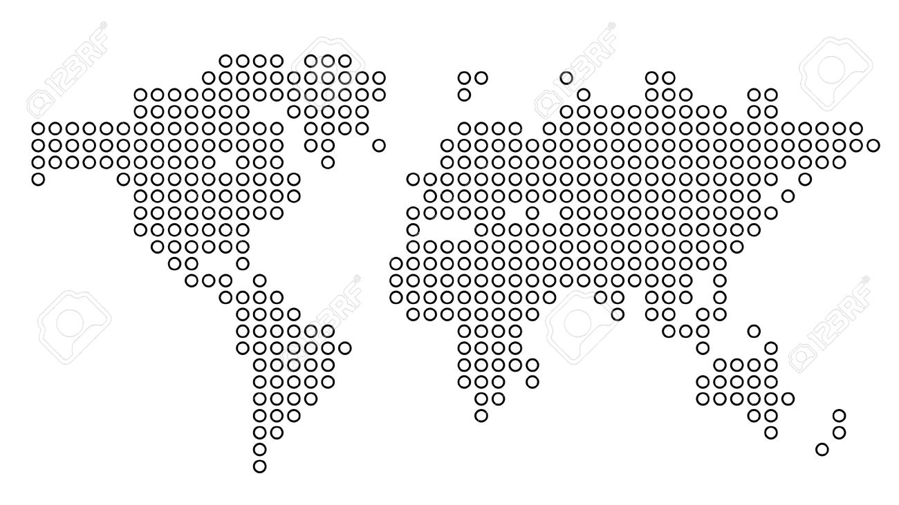 Dotted world map vector illustration royalty free cliparts dotted world map vector illustration stock vector 19601834 gumiabroncs Image collections
