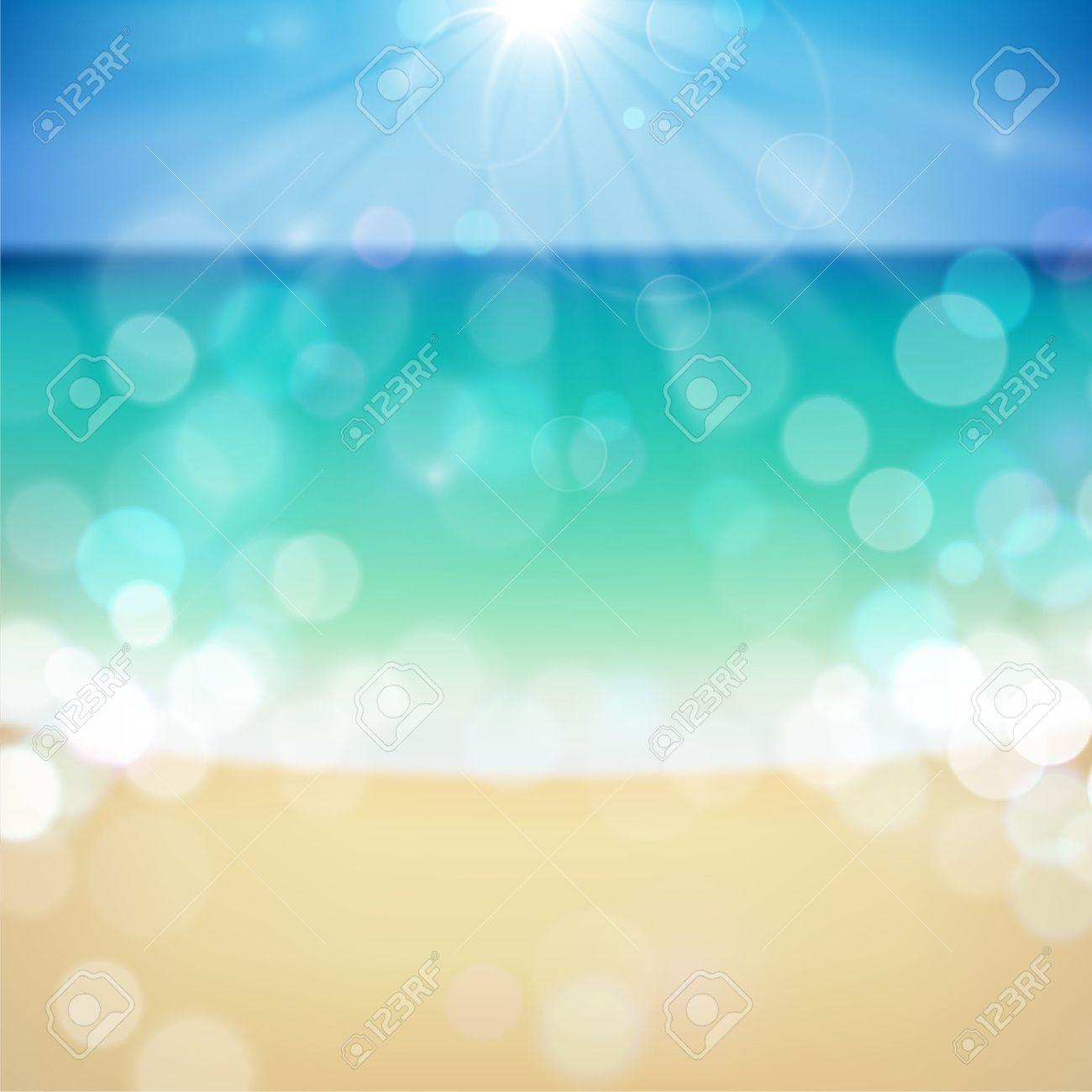 Summer tropical beach bokeh background. - 29425672