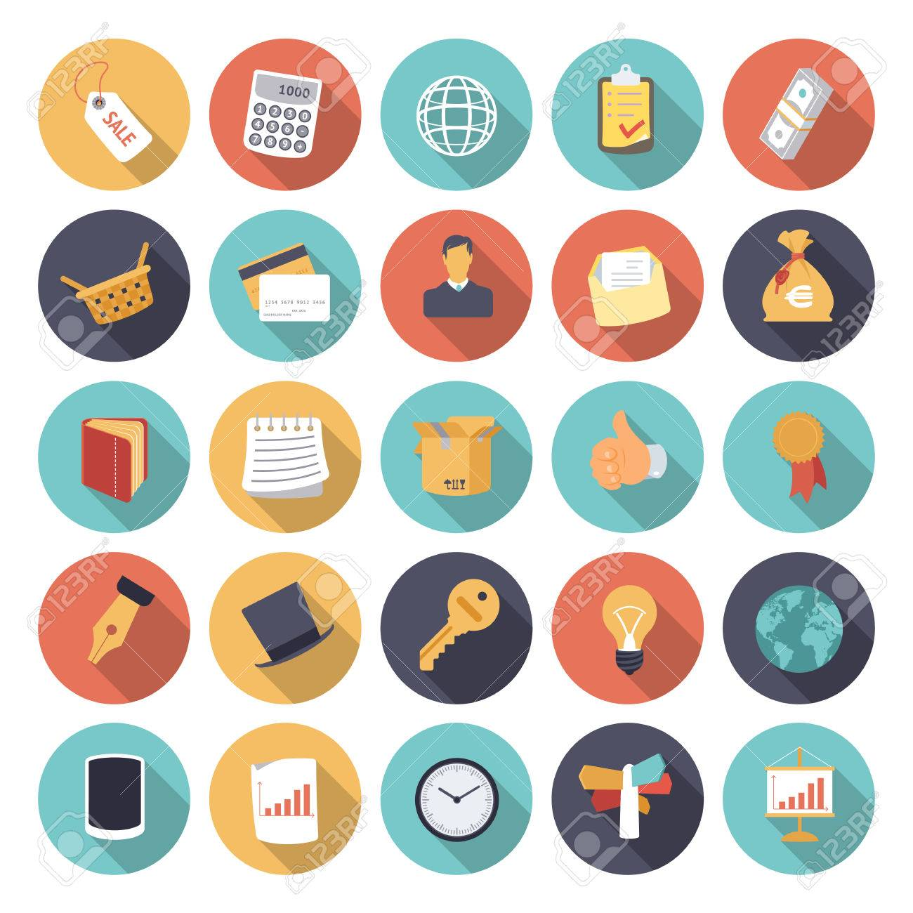 Flat design icons for business and finance. - 31965460