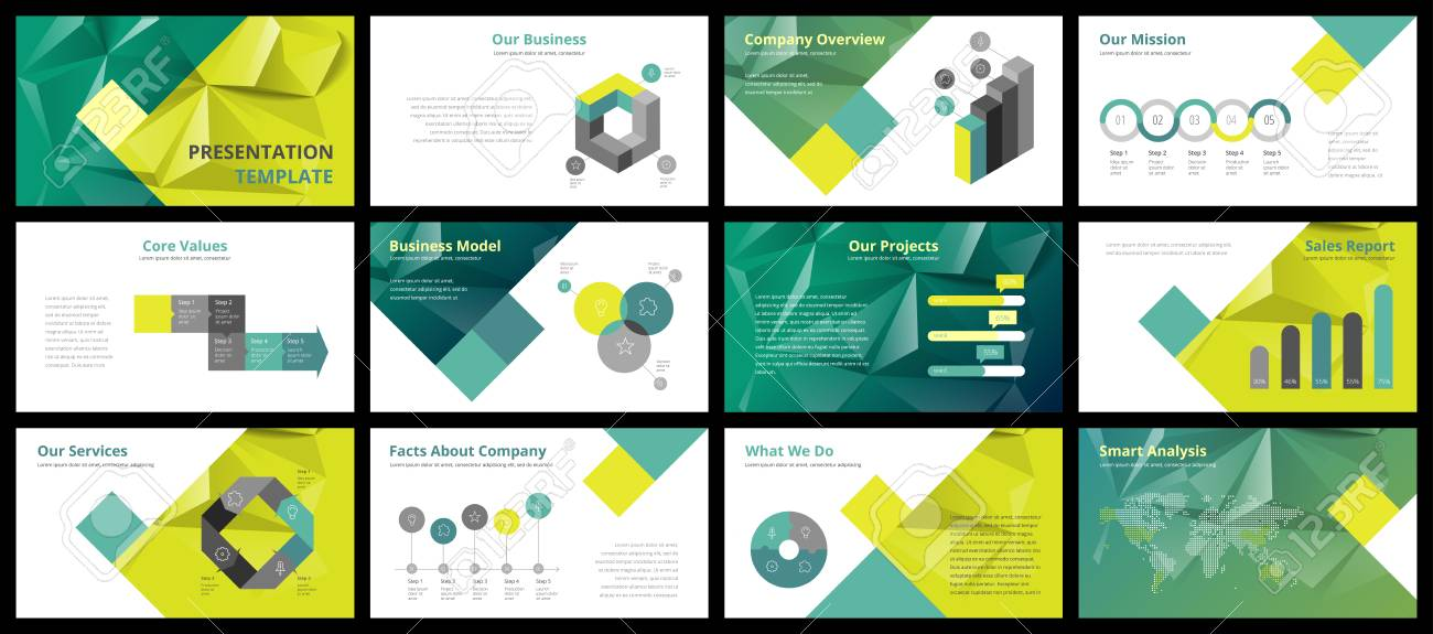 business presentation templates vector infographic elements