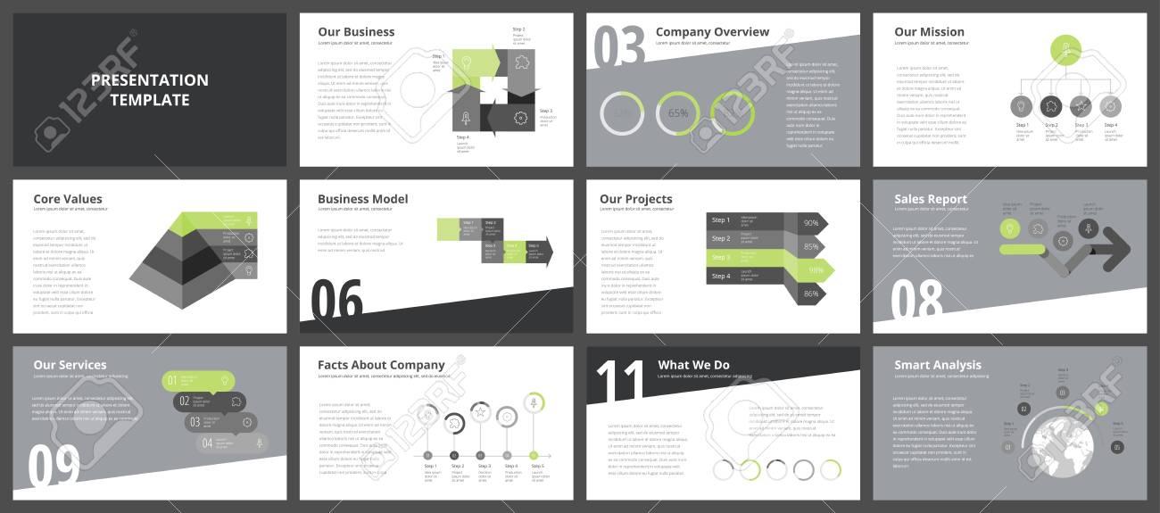 Modelos De Apresentação De Negócios Elementos De Infográfico De Vetor Para Slides De Apresentação Da Empresa Relatório Anual Corporativo Panfletos