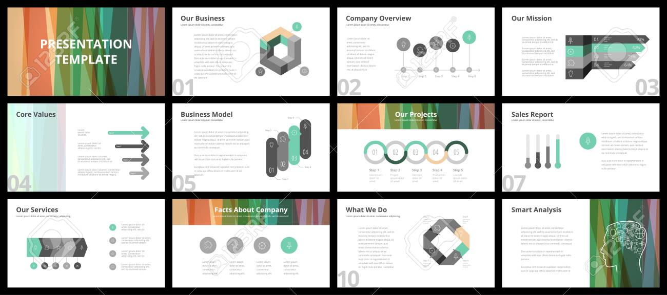 business presentation templates vector infographic elements for