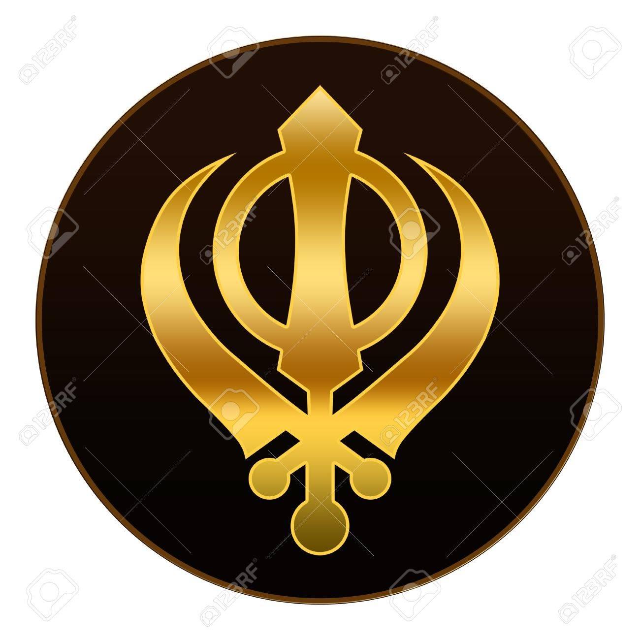 Sikh symbol golden symbol in dark background stock photo sikh symbol golden symbol in dark background stock photo 18175005 biocorpaavc