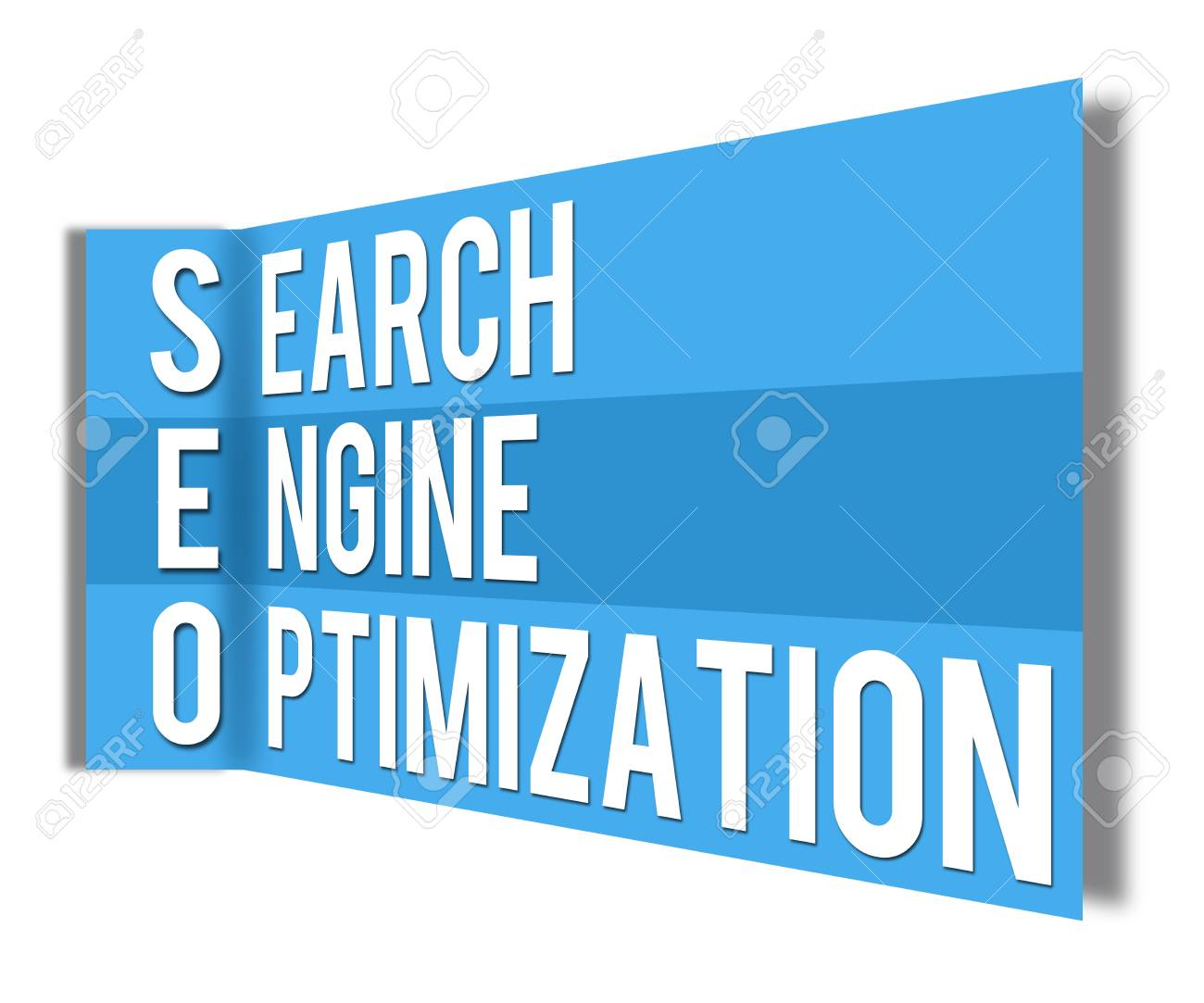 SEO Wall Blue Stock Photo - 21266510