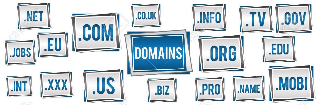 Domains Blue Grey Banner - 22109976