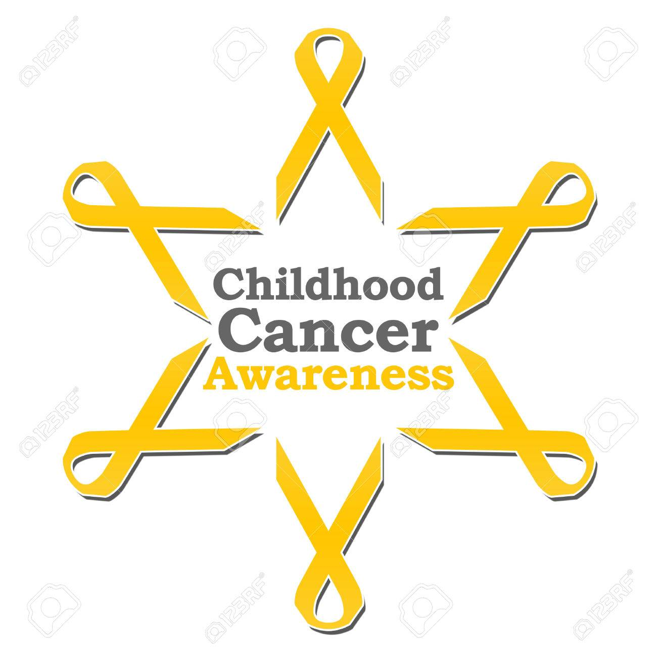 childhood cancer awareness ribbon circle stock photo picture and
