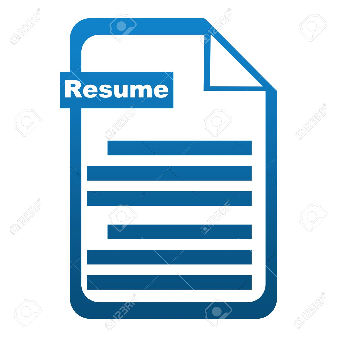 resume icon blue - Resume Icon