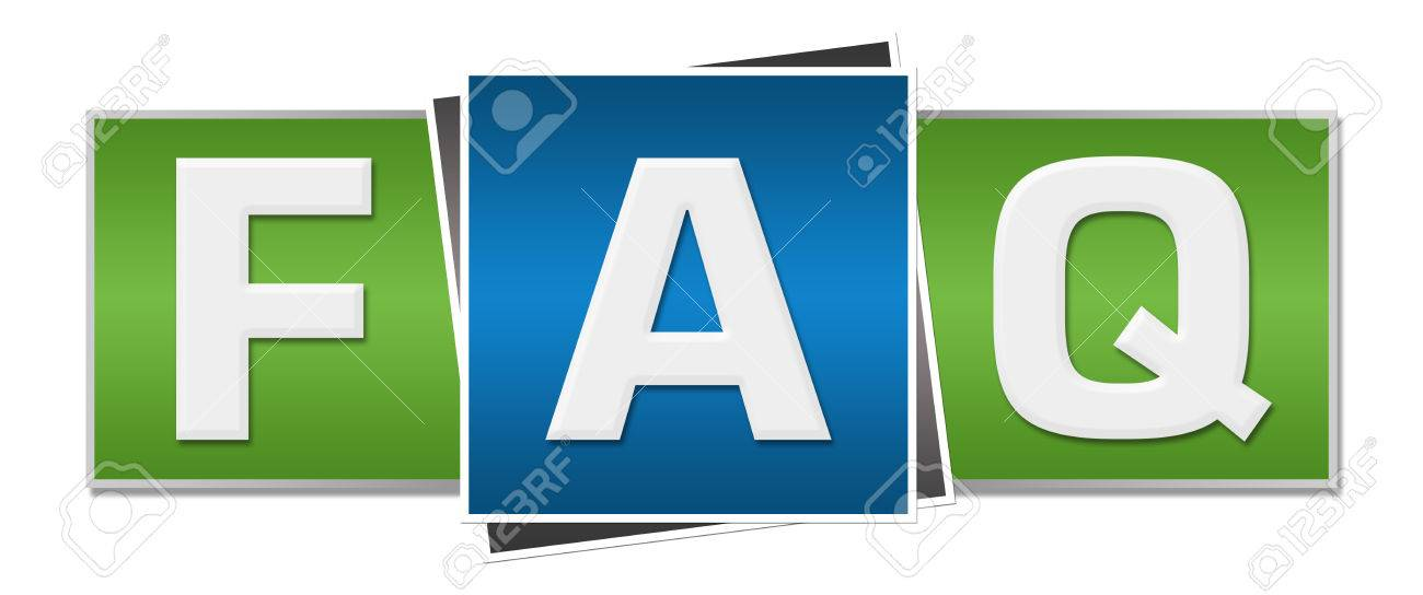 FAQ - Frequently Asked Questions Green Blue - 45528846