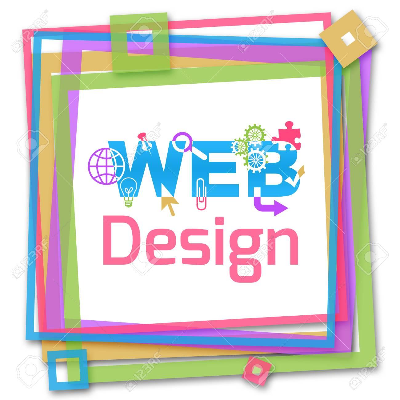 Diseño Web Marco Colorido Fotos, Retratos, Imágenes Y Fotografía De ...