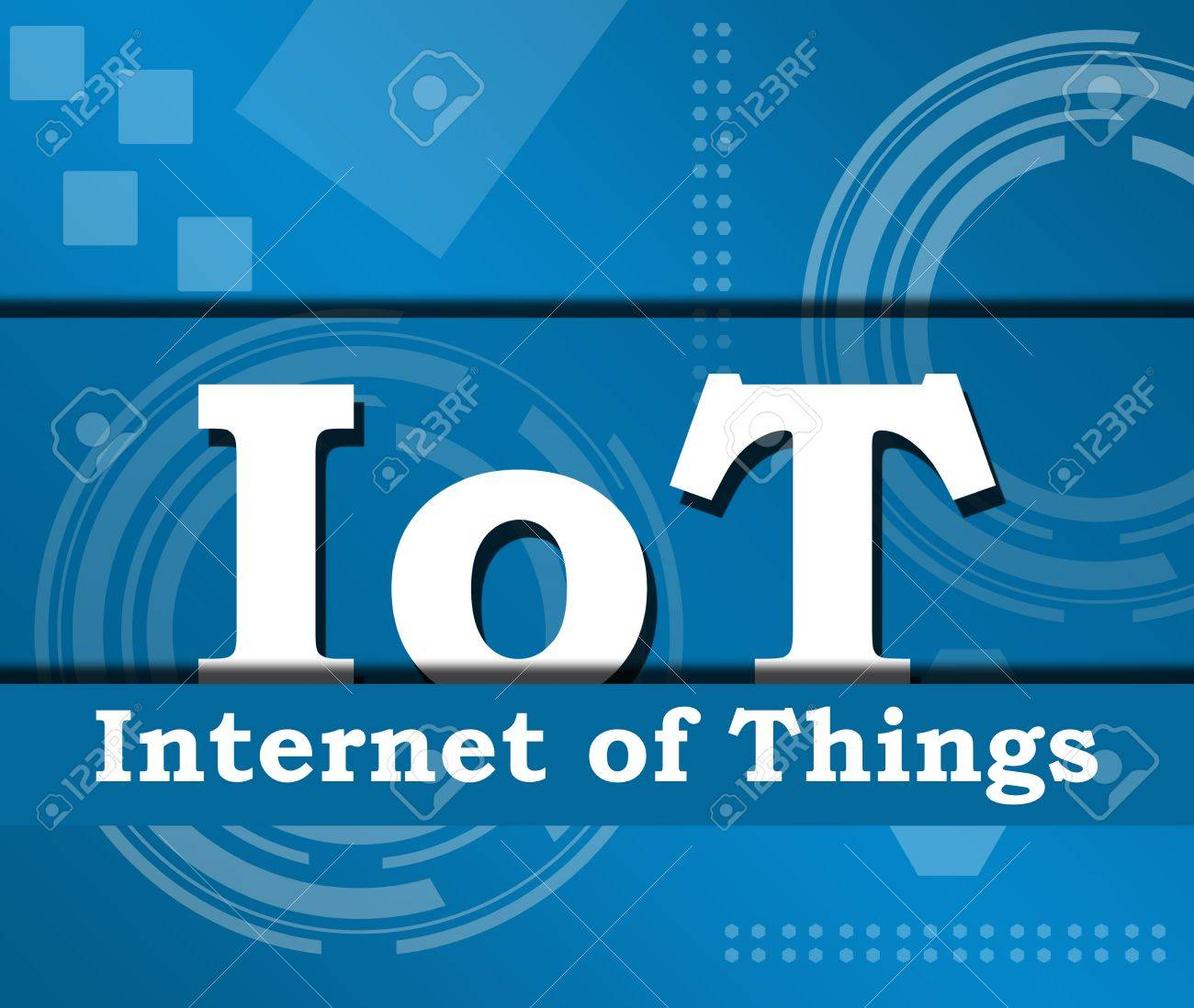 IoT - Internet Of Things Technical Background Stock Photo, Picture ...