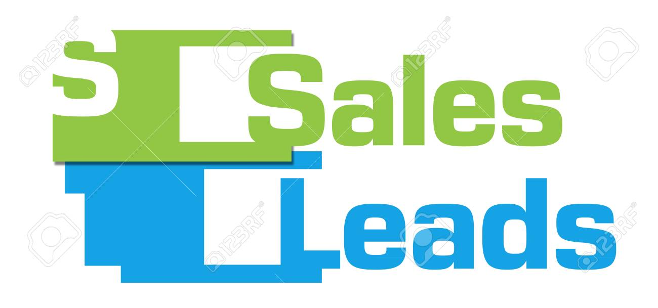 sales leads green blue abstract stripes stock photo picture and