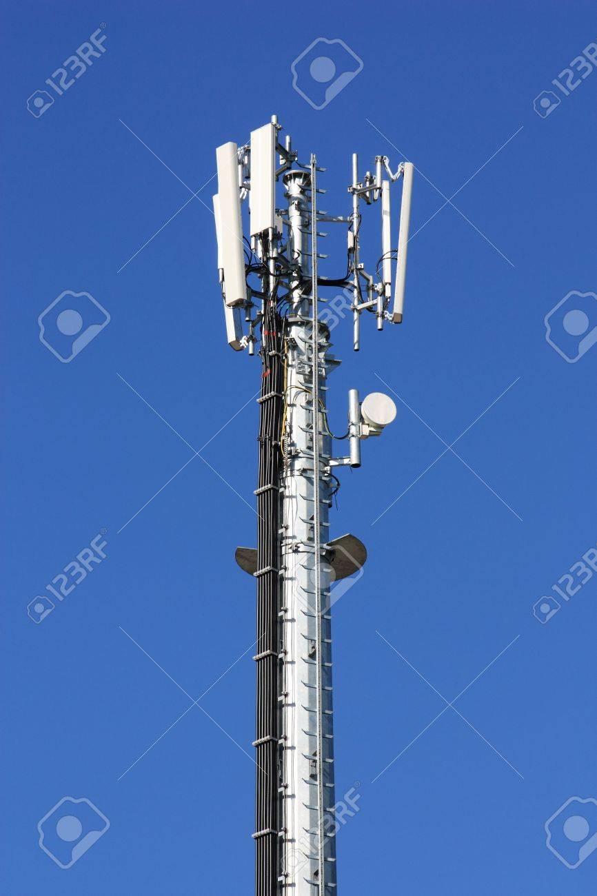 GSM antenna against blue sky Stock Photo - 6548564
