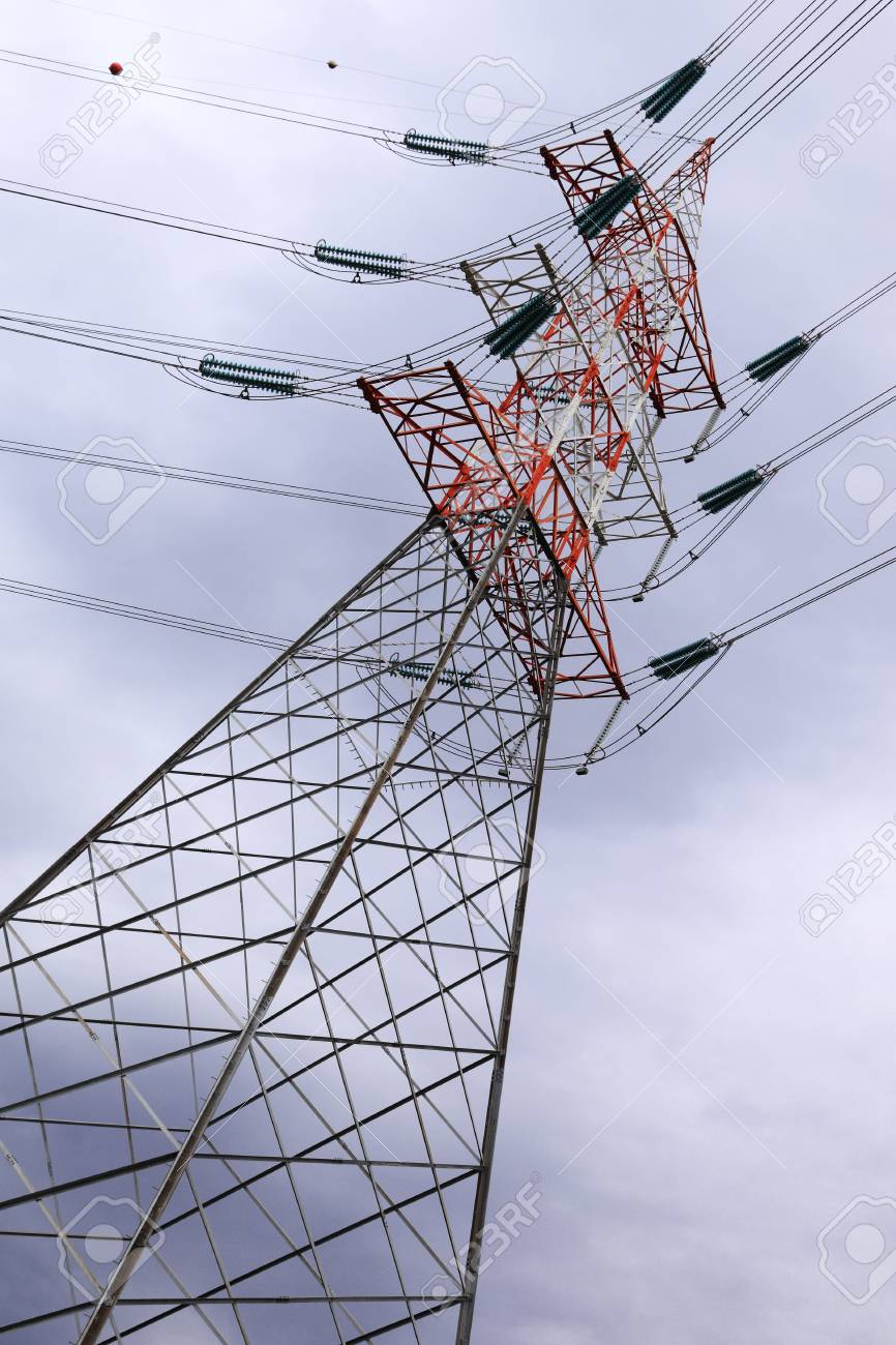 power and energy, high voltage post Stock Photo - 12753385