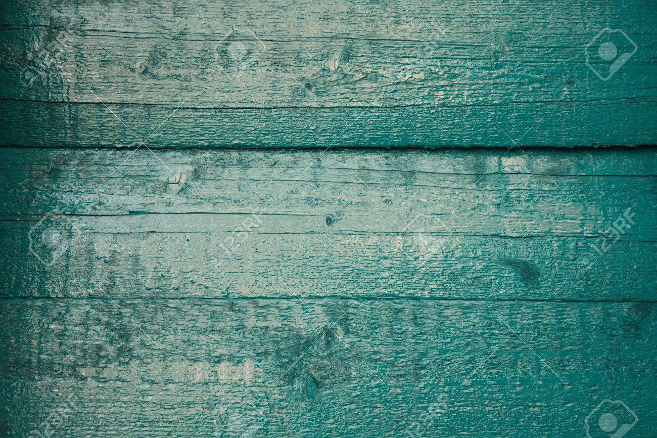 teal wood plank background Stock Photo - 18835049
