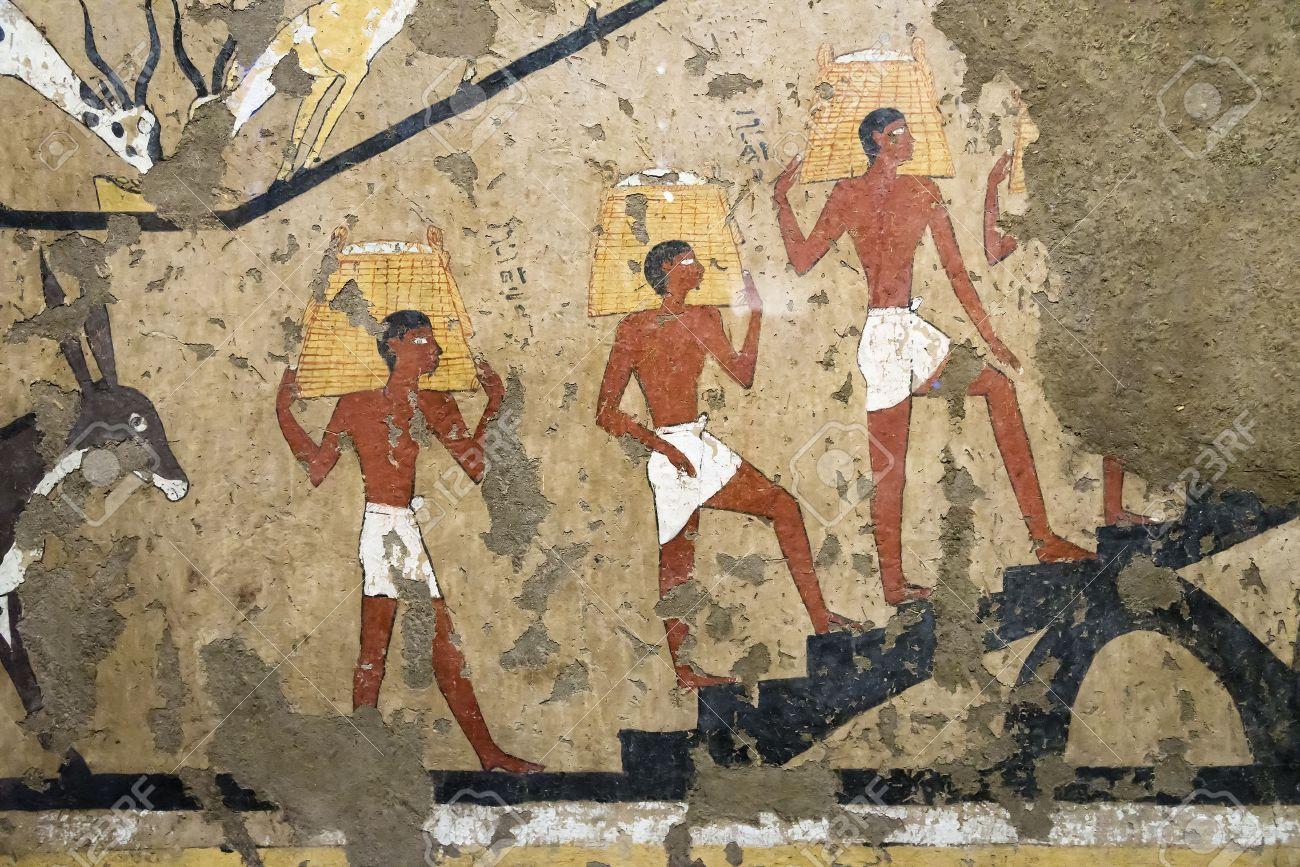 Ancienne Peinture Murale égyptienne