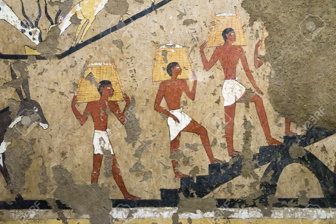 Ancient Egyptian Mural Painting Stock Photo   56159351 Part 79