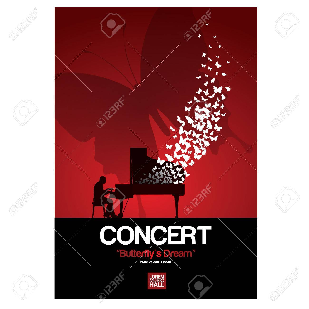 Piano Concert Posters Royalty Free Cliparts Vectors And Stock