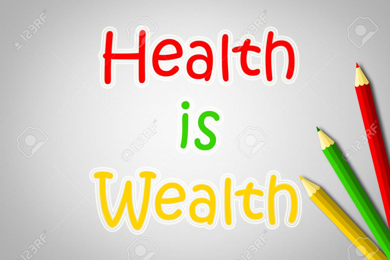 Health Is Wealth Concept Text On Background Idea Stock Photo Picture And Royalty Free Image Image 31678157