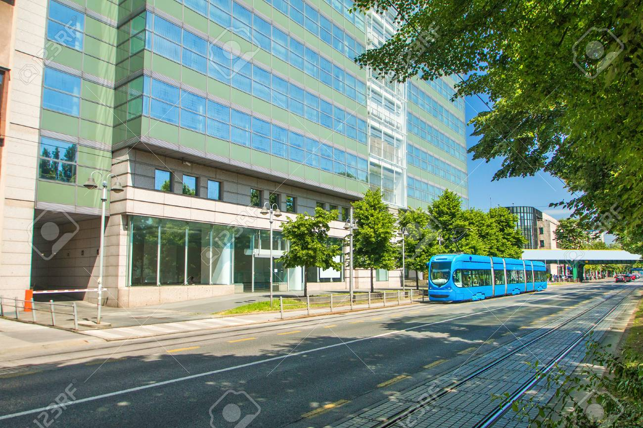 Zagreb Croatia Tram Street Public Passing Tracks Popular Stock Photo Picture And Royalty Free Image Image 58008432