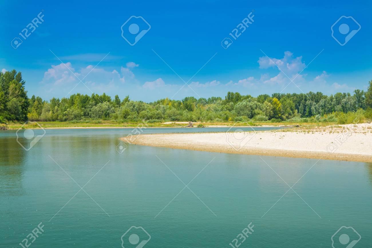 美しい砂のビーチ、Medjimurje、...