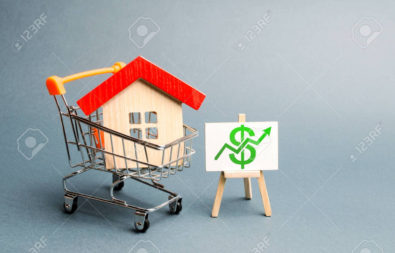 A Red Roof House In A Trading Cart And Green Arrow Up On A Stand Stock Photo Picture And Royalty Free Image Image 128632445 Shop for arrow casual and formal shirts at the best price range. 123rf com