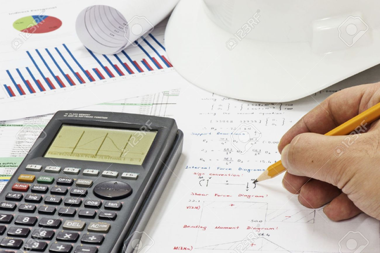 Civil Design Engineer is making structural analysis calculations