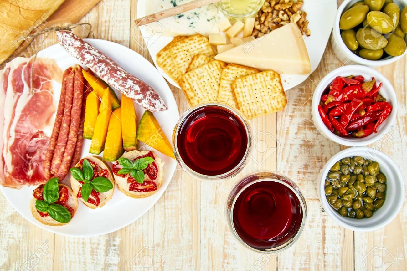 Italian Antipasti Wine Snacks Set Antipasto Catering Platter Stock Photo Picture And Royalty Free Image Image 108479910
