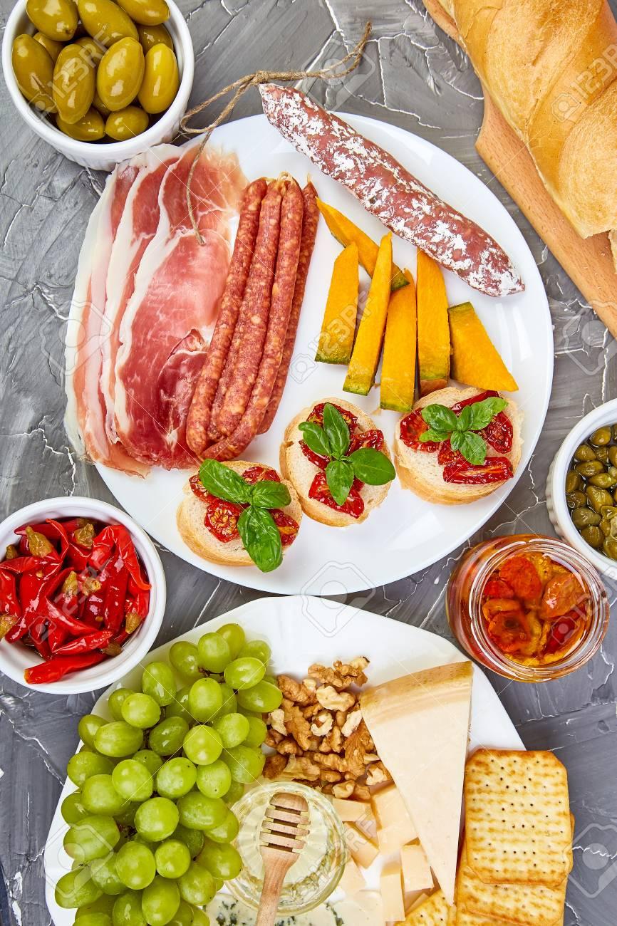 Italian Antipasti Wine Snacks Set Antipasto Catering Platter Stock Photo Picture And Royalty Free Image Image 111831593