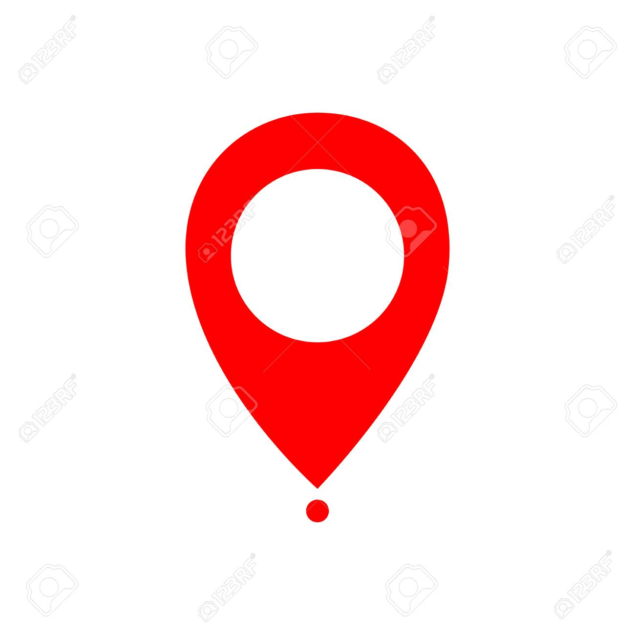 Maps pin  Location map icon  Location pin  Pin icon vector